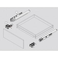Механизъм пълно изтегляне, плавно прибиране /за 18 мм/ + 3D скоби DTC