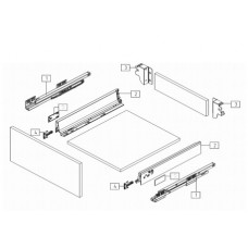 Система за чекмеджета D-BOX - DTC L=270 мм